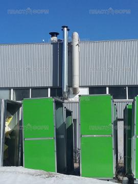 Пример установки воздуховода