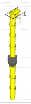 Модель строительного мусорного рукава