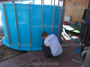 Изготовление бассейна по месту нахождения заказчика