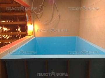 Изготовление бассейна в построенной бане