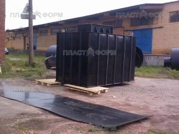 Погреб из пластика на объекте заказчика