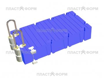 Модель пластикового модульного понтона