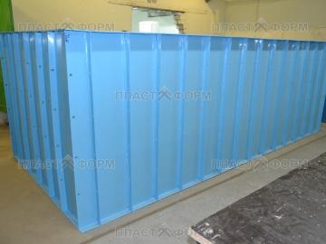Пластиковая емкость для бассейна на заказ