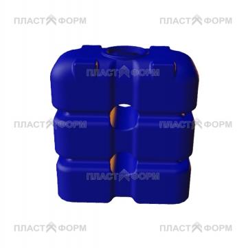 Бак прямоугольный Q1500 синего цвета