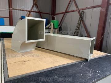 Пластиковая прямоугольная вентиляция