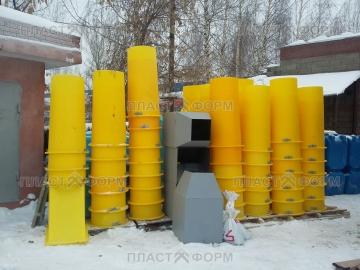 Прямые строительные рукава для мусора