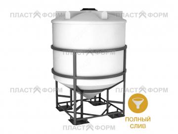Конусная емкость 5000 литров в обрешетке