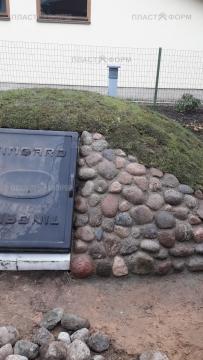 Оформление погреба камнем